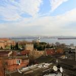 Blick vom Hostel auf den Bosporus