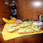 Frühstück auf dem Weg nach Bukarest