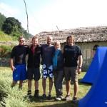 Unser Grüppchen beim Rafting