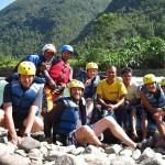 Gruppenfoto beim Rafting