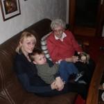 Omi, Marlen und Urenkel Richard