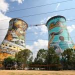 Einst Kraftwerk heute Bungeeabsprunganlage – Soweto