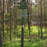 Alte Heimat – Wegweiser unterhalb der Kiesgrube