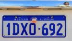 amtliches Kennzeichen unseres Mietwagen