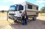 Im Kgalagadi Transfrontier Park – Paul und Maria
