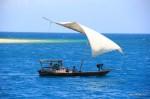 Das typische Boot in Zanzibar – die Dhau