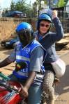 Mit dem Mototaxi in Kigali unterwegs