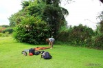 Beim Zelten am Fuße des Kilimanjaro