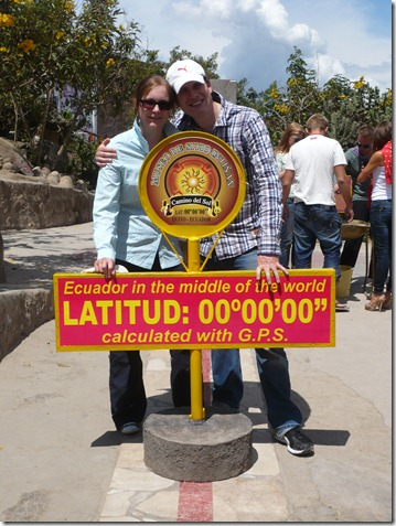 "am ""richtigen"" Äquator im Inti Nan Museum"