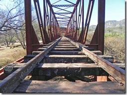 alte Eisenbahnbrücke in Alemania