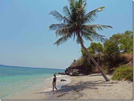 einsamer Strand auf Lombok