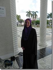 Janine islamisch gekleidet