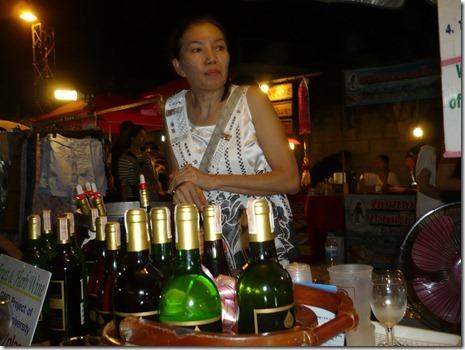 thailändischer Weinstand