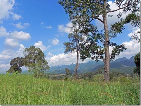 Landschaft im hohen Norden an der burmesischen Grenze